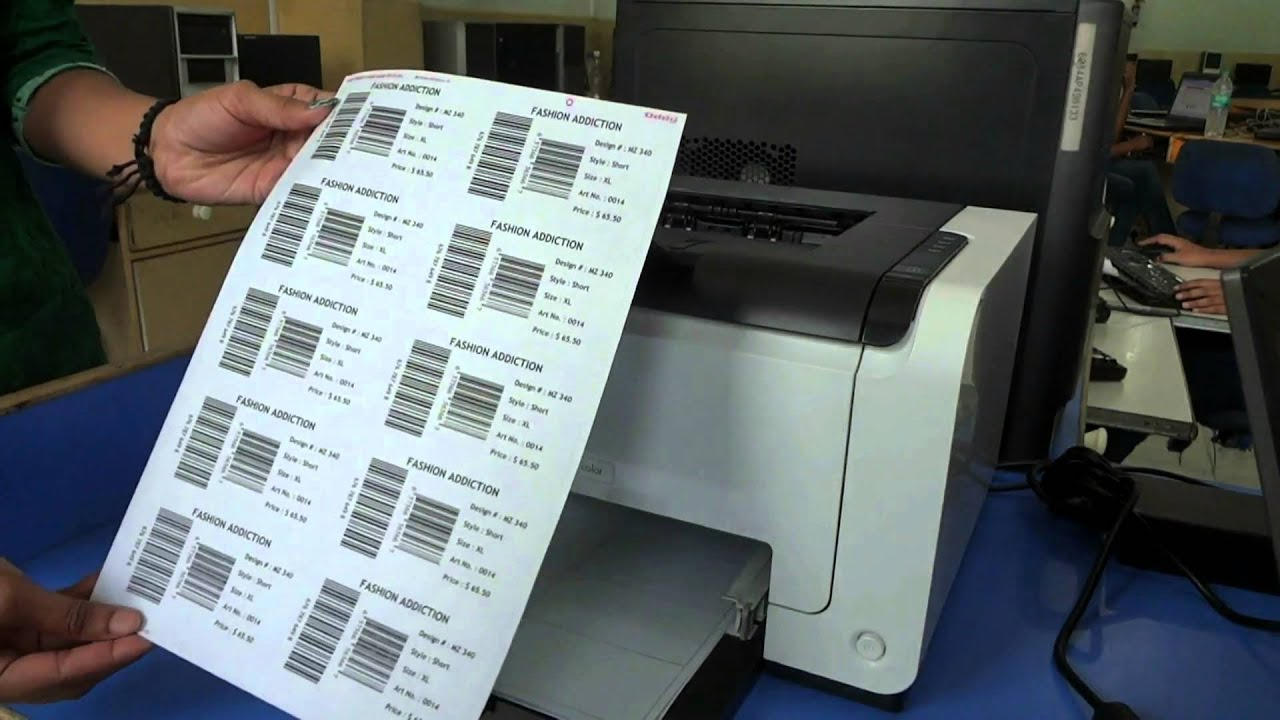 easy to print barcode labels on a4 size sheet