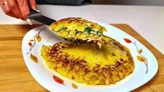 Просто картошка и 2 яйца! Вы сделаете это за 5 минут! Готовлю на завтрак, обед и ужин!