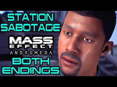 Mass Effect Andromeda - Meet Raj Patil - Station Sabotage Quest - BOTH ENDING CHOICES |