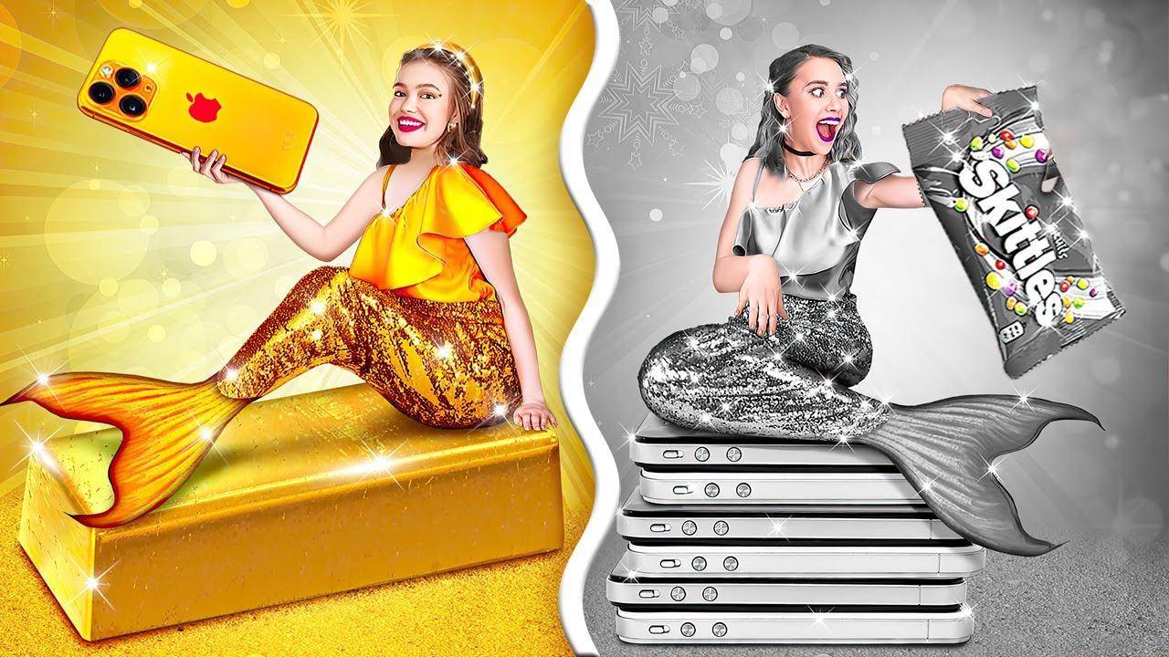 ¡DESAFÍO DE ORO VS. PLATA! || Chica dorada vs. plateada por 123 GO! GOLD