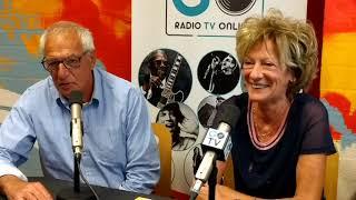 De Dijkfeesten Westdorpe. Ilse van Langevelde en Walter van Haelst in de studio