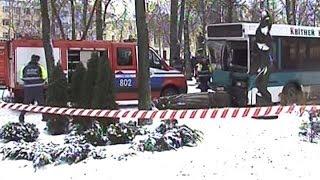 В Гомеле маршрутный автобус вылетел на тротуар - погибла женщина