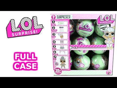 LOL Surprise Lil Outrageous Littles Series 2 Blind Box Full Case Unboxing 7 Layers of Surprise