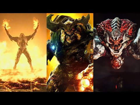 The Graphical Evolution Of Cyberdemon, Spider Mastermind And Arch-Vile From DOOM To DOOM Eternal