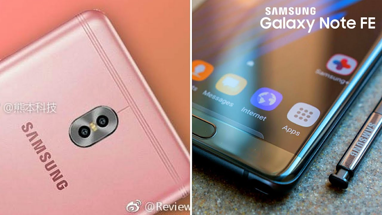 Galaxy Note Fe Galaxy C10 With Dual Camera Leaked Youtube