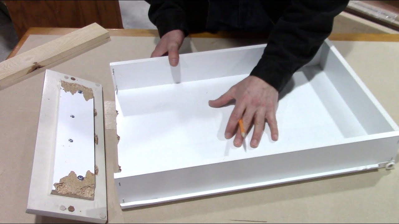 How to fix a broken kitchen drawer - bathroom pull out repair ...
