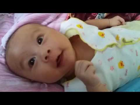 Perkembangan Bayi usia 2 Bulan sudah bisa diajak ngobrol cantik....#2 Baby Cio