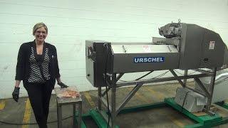 urschel model m belt fed dicer and strip cutter