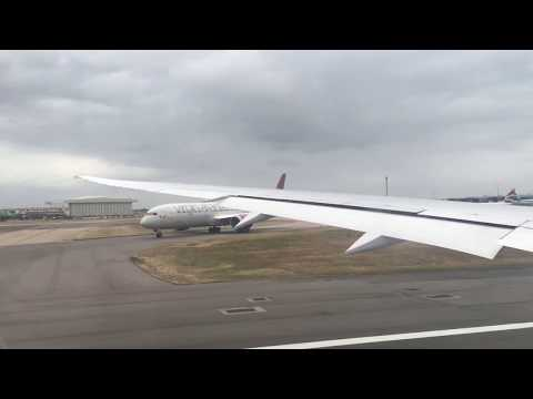 BA 787-8 turbulent take off from Heathrow to landing at BWI