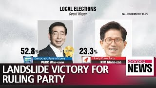 Ruling Democratic Party of Korea claims overwhelming victory in local elections