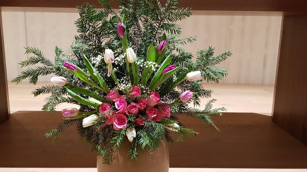 Merangkai Bunga Bungaaltargereja Flowerarrangement Youtube Rangkaian bunga altar gereja