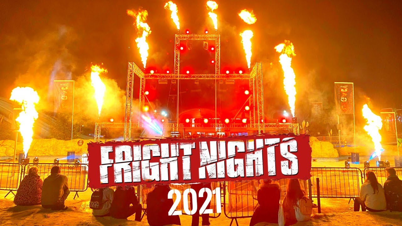 Watching LEGACY Fire & Light Show At THORPE PARK FRIGHT NIGHTS 2021