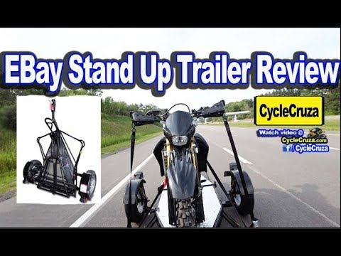 Ebay Folding Stand Up Motorcycle Trailer Review Youtube
