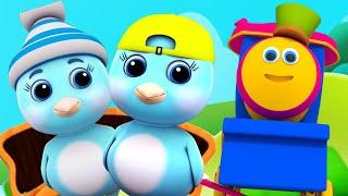 боб поезд | две маленькие птички | детские стишки | рифмы на русском | Two Little Dicky Birds