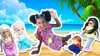 Doll Beach Party! American Girl & Anna Toddlers Magic Barbie Doll