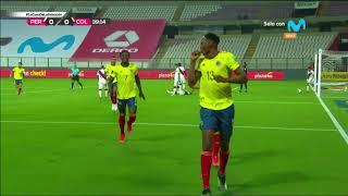 Perú vs Colombia: mira el gol de Yerry Mina tras error de Gallese | Clasificatorias Qatar 2022