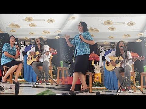 Duet nanoe Biroe bersama Ibu Guru BK - Arjuna vs Madona feat Juwita @ SMAN 1 Mengwi (SMANGI)