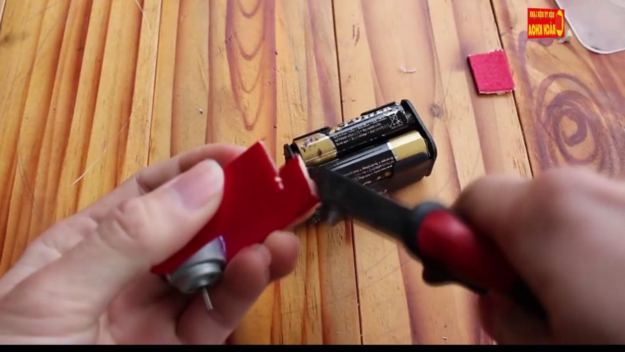 hướng dẫn cách tạo máy quạt mini chạy bằng pin 2017 –  chỉ 5 phút