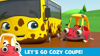 Buster & Cozy Play in Muddy Puddles | And More Kids Videos! | Cozy Coupe  Cartoons for Kids