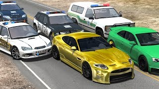 Extreme Police Chases Crashes&Fails (PIT Maneuvers) #17 - BeamNG Drive