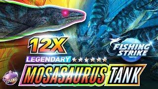 【釣魚大亨 Fishing Strike】 12x Legendary Fish Mosasaurus full tank  沧龙属 Dark KING Dinosaur fish North Sea