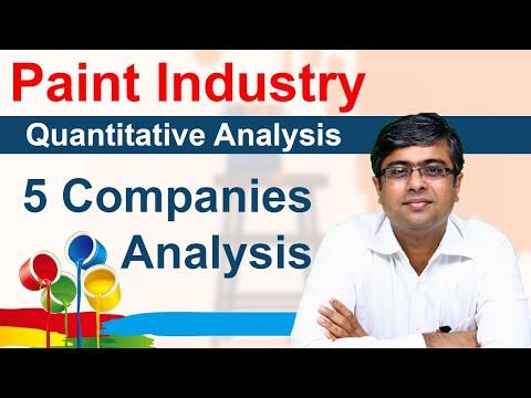 Paint Industry - Quantitative Analysis   Comparison of top 5 Paint Stocks