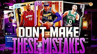 DON'T MAKE THESE 5 MISTAKES ON NBA 2K20 MY TEAM