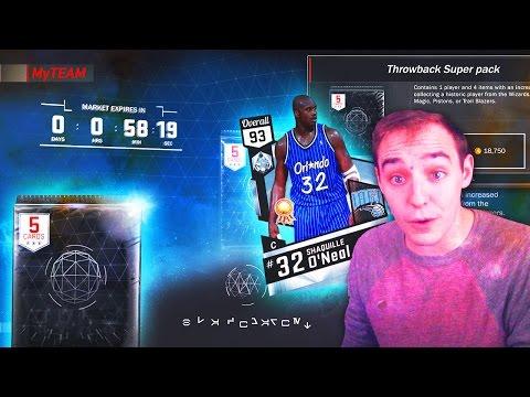 NBA 2K17 My Team SUPER THROWBACK PACKS! NEW BLACKMARKET PACKS!