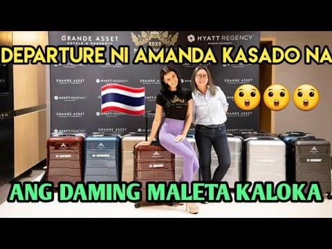 DEPARTURE NI AMANDA KASADO NA | MISS UNIVERSE THAILAND
