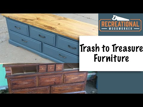 Old Dresser Turned Into Farmhouse Style Window Seat Youtube