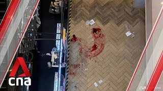 Bloodstains at Ngee Ann City after man falls from a height