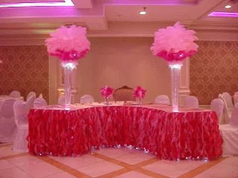 Victoria S Secret Themed Sweetheart Table Linens In Hot