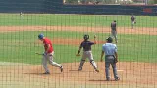 17 yr old has Nasty 85mph cutter and curve ball !! Batter gets pissed and gets taking out of game...