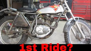 Barn find 1975 honda tl250 repair and tune