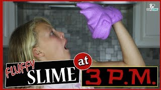 DO NOT MAKE FLUFFY SLIME at 3 PM! SO SCARY CHALLENGE!!