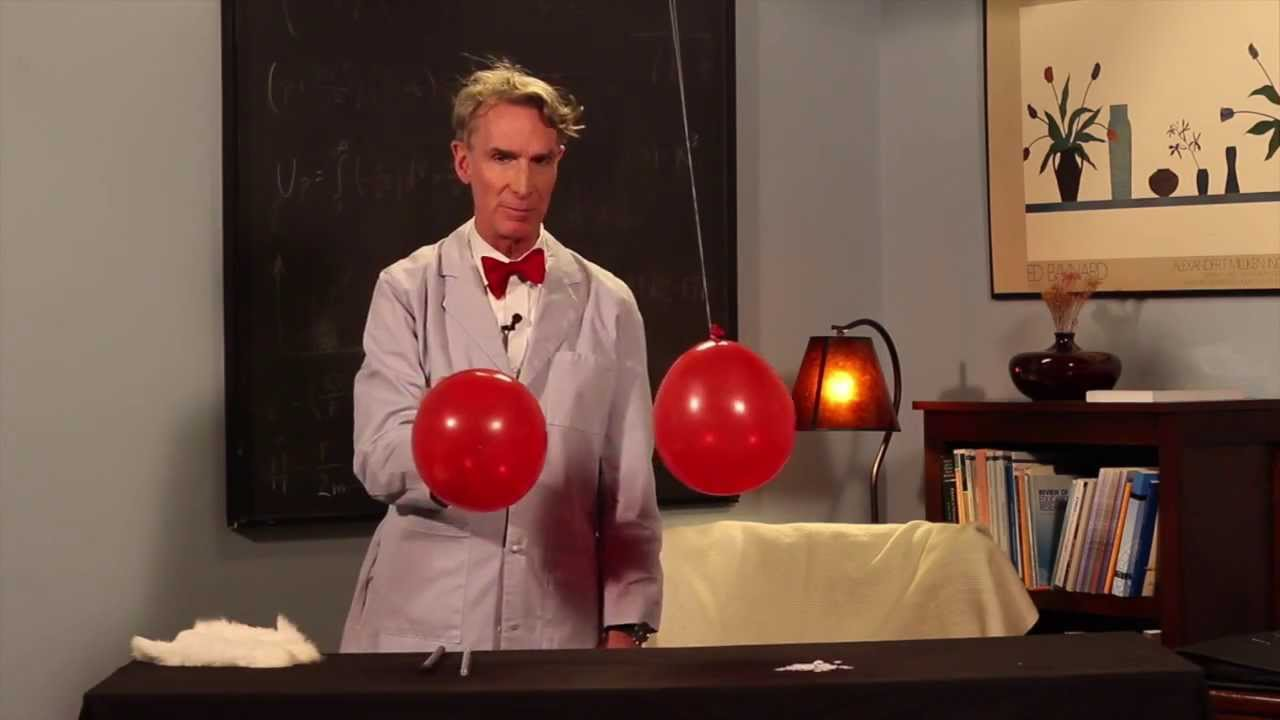 Bill Nye The Science Guy Performs A Static Electricity Demonstration