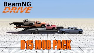 Gavril D15 Truck and Trailer Mod Pack - BeamNG Drive