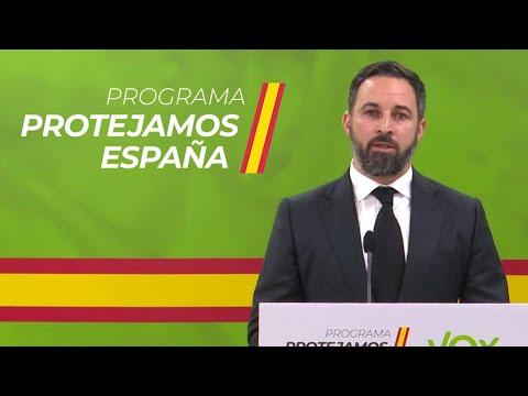 Santiago Abascal presenta el programa: Protejamos España