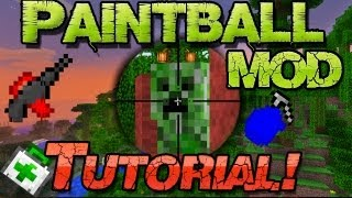 [NEU] Minecraft 1.8 Paintball GUN Mod Installieren - Mac Pc Deutsch German - Waffen Weapon