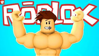 ROBLOX. Крутая прокачка в Fitness Simulator. Cool and fast leveling in Fitness Simulator