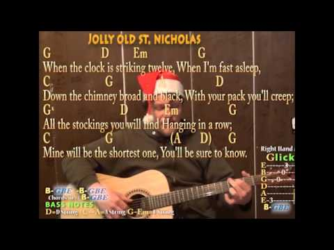 Jolly Old St Nicholas Christmas Fingerstyle Guitar Chord Cover