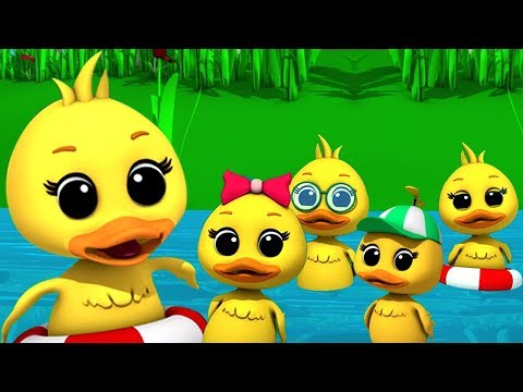 Lima bebek kecil   sajak anak-anak   Puisi untuk anak-anak   Rhymes for Kids   Five Little Ducks