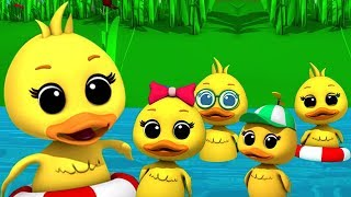 Download Video Lima bebek kecil | sajak anak-anak | Puisi untuk anak-anak | Rhymes for Kids | Five Little Ducks MP3 3GP MP4