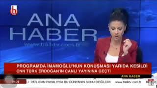 Ekrem imamoğlu'nun konuşmasını kestiler!