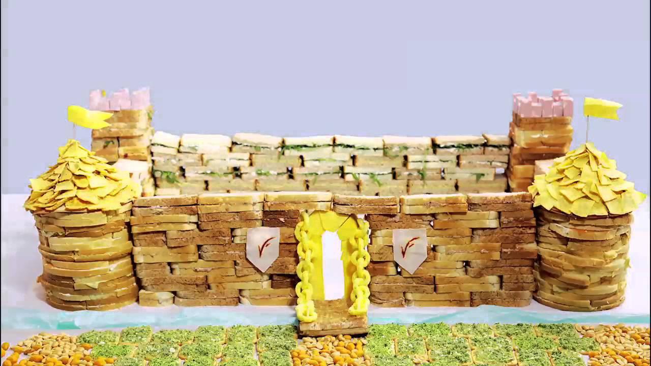abbastanza Castello di Re Artù di tramezzini - stop motion VisualFood - YouTube AX87