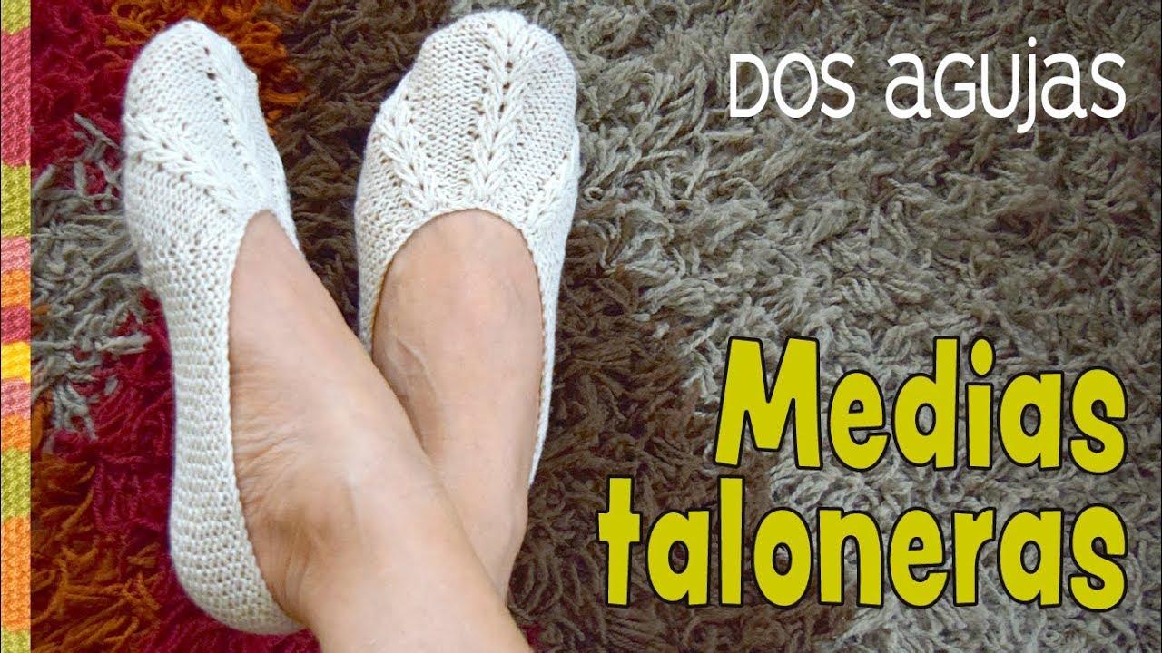 Download Medias taloneras o pantuflas con trenzas decoradas tejidas a dos agujas / Tejiendo Perú