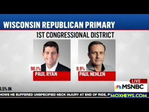 MSM Declares Paul Ryan Winner Of Wisconsin Republican Primary With Less Than 4% Of The Vote Counted
