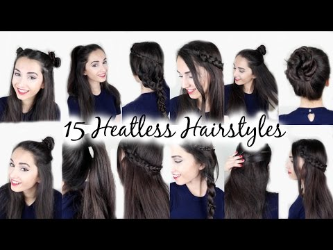 15 Easy Heatless Hairstyles