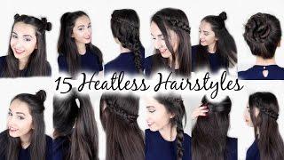 15 Easy Heatless Hairstyles