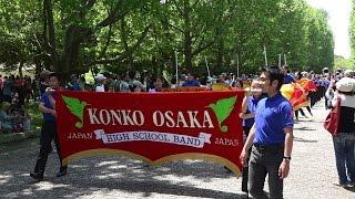 ブラスエキスポ2015 金光大阪中学校・高等学校 西コースパレード